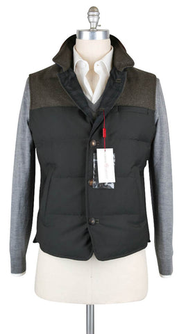 Luciano Barbera Green Vest - 44 US / 54 EU