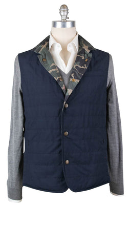 Luciano Barbera Navy Blue Reversible Vest - 40 US / 50 EU