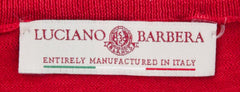 New $1025 Luciano Barbera Red Sweater - V-Neck - (1096965307745) - Parent