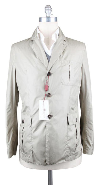 $2150 Luciano Barbera Beige Solid Jacket - Size 38 (US) / 48 (EU) - (11106813X1)