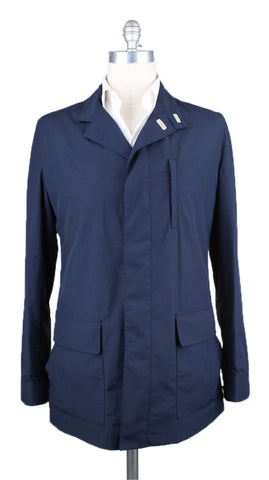 Luciano Barbera Navy Blue Raincoat