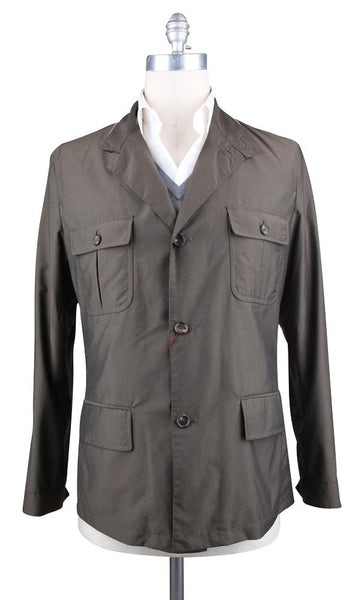 $2900 Luciano Barbera Brown Solid Jacket - Size 40 (US) / 50 (EU) - (11122539)