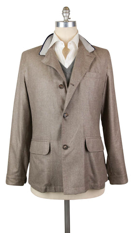 Luciano Barbera Light Brown Jacket - 40 US / 50 EU