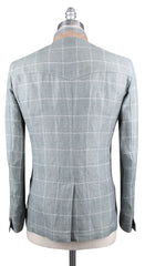 New $3000 Luciano Barbera Green Window Pane Jacket -  40/50 - (111431)