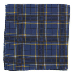 "New $175 Luciano Barbera Navy Blue Pocket Square - 13"" x 13"" - (C4172BLUPLD)"