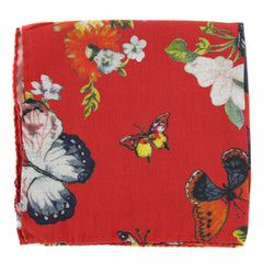 "$175 Luciano Barbera Orange Fancy Pocket Square -  x12.75""- (LUSLKC4166ORNGFNCY)"