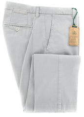 New $375 Luigi Borrelli Gray Pants - Extra Slim - 40/56 - (10SLIMCERNP012FANGO)