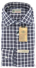 Luigi Borrelli Navy Blue Shirt - M US / M EU  Shirt - ShopTheFinest- Luxury  Italian Designer Brands for men