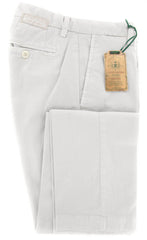 New $375 Luigi Borrelli Light Gray Pants - 32/48 - (10SLIMCERNP012MALTA)