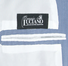 New $3900 Orazio Luciano Blue Striped Wool Suit - Single Breasted - 38/48