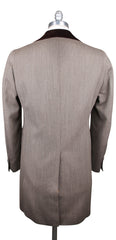 $5400 Orazio Luciano Beige Wool Solid Coat - 3 Button - Size M (US) / 50 (EU)