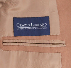 New $5700 Orazio Luciano Brown Cashmere Solid Coat -  3 Button - 40/50