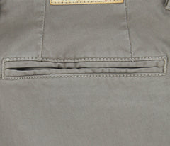 New $375 Borrelli Gray Solid Pants - 34/50 - (10SLIMCERN/LDY/MASTICE)