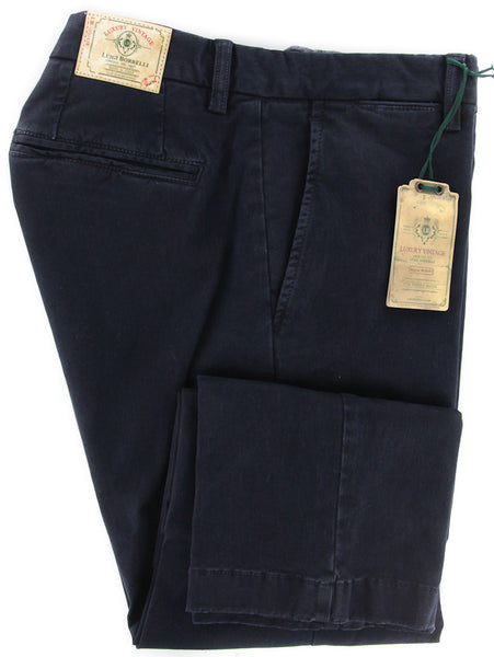 Luigi Borrelli Navy Blue Pants – Size: 38 US / 54 EU  Pants - ShopTheFinest- Luxury  Italian Designer Brands for men