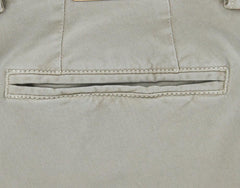 New $375 Luigi Borrelli Beige Solid Pants - 40/56 - (10SLIMCERN/LDY/TENDA)