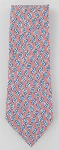 Kiton Pink, Light Blue and White Tie