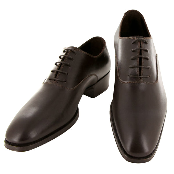 New $925 Max Verre Brown Leather Shoes - Lace Ups - () - Parent
