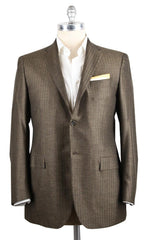 New $6600 Kiton Brown Sportcoat 44/54
