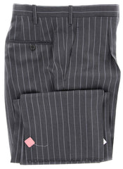 New $7200 Kiton Gray Suit - Light Blue Striped - 44/54
