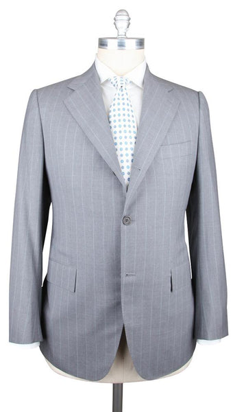 New $7200 Kiton Gray Super 180s Suit - 44/54 - (701257/R7)