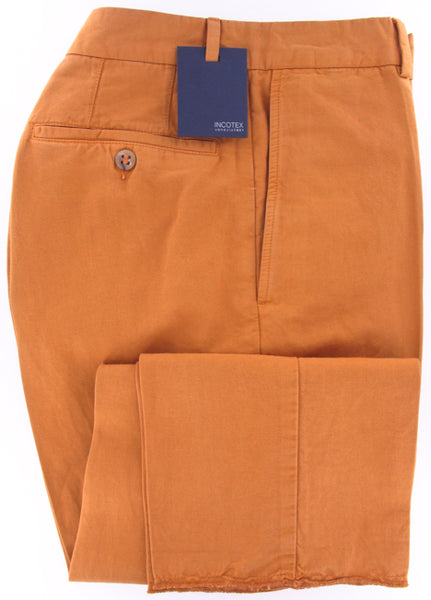 Incotex Orange Pants – Size: 30 US / 46 EU  Pants - ShopTheFinest- Luxury  Italian Designer Brands for men