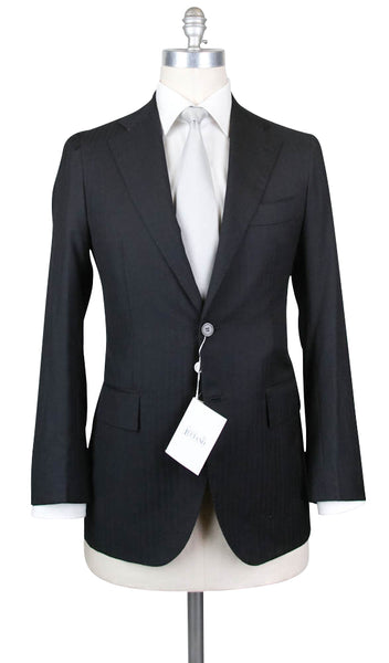 New $4800 Orazio Luciano Charcoal Gray Wool Suit -  44/54 - (2BOTTONIA97130)