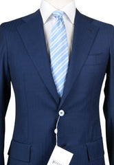 New $4800 Orazio Luciano Navy Blue Wool Solid Suit -  46/56 - (2BOTTONIA9714)