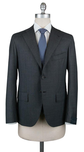New $5400 Orazio Luciano Gray Wool Pick and Pick Suit - (3BT1000) - Parent