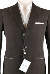 New $3600 Orazio Luciano Brown Cotton Solid Sportcoat - 38/48 - (182603)