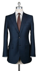 New $4800 Orazio Luciano Dark Blue Wool Solid Suit - 36/46 - (AU2BOTTONI250080)
