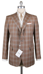 New $3900 Orazio Luciano Brown Plaid Sportcoat - (GU3BA93534R6) - Parent