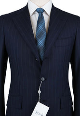 New $4800 Orazio Luciano Navy Blue Wool Suit - (AUFINTO3B725400505) - Parent