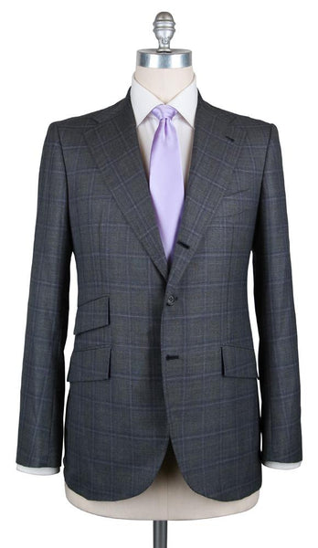 New $4800 Orazio Luciano Gray Wool Plaid Suit - (FINTO3B843269R7) - Parent