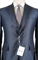 New $4800 Orazio Luciano Blue Wool Blend Striped Suit - 46/56 - (6826)