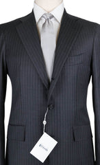 New $5700 Orazio Luciano Gray Wool Striped Suit - 40/50 - (FINTO3BOT5105007L)