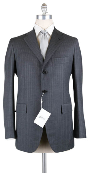 New $5400 Orazio Luciano Gray Wool Striped Suit -  42/52 - (FINTO3BOT6036)