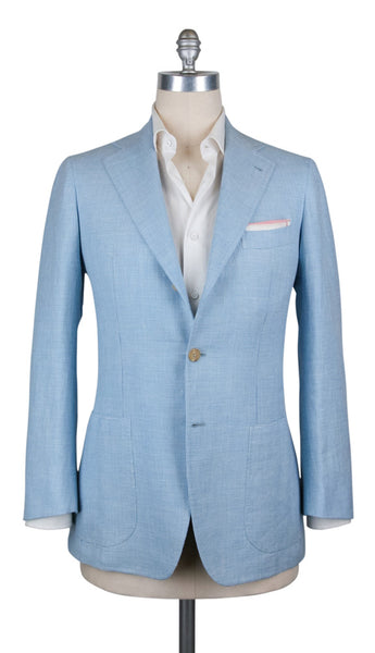 New $3450 Orazio Luciano Light Blue Wool Fancy Sportcoat - (GU3BX5) - Parent