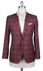 New $4200 Orazio Luciano Red Wool Blend Sportcoat - 38/48 - (T2242QUADROSR8)