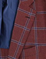 New $4200 Orazio Luciano Red Wool Blend Sportcoat - (T2242QUADROSR8) - Parent
