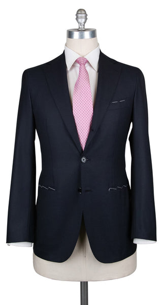 New $4800 Principe d'Eleganza Midnight Navy Blue Suit - (AUB90A833184192) - Parent