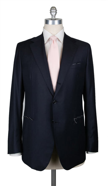 New $4800 Principe d'Eleganza Midnight Navy Blue Suit - (AULIPARI2187) - Parent