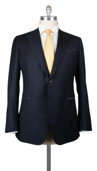 New $4800 Principe d'Eleganza Navy Blue Wool Solid Suit - 46/56 - (B90LP1528)