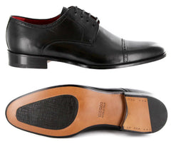 New $1100 Paolo Scafora Black Shoes - Lace Ups - 7/6 - (GENRUSS/BOL/FERNERO)