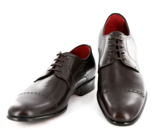 New $1100 Paolo Scafora Dark Brown Shoes - 6.5/5.5 - (GENRUSS/BOL/FERTMORO)