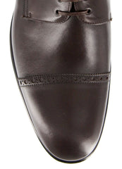 New $1100 Paolo Scafora Dark Brown Shoes - 8/7 - (GENRUSS/BOL/FERTMORO)