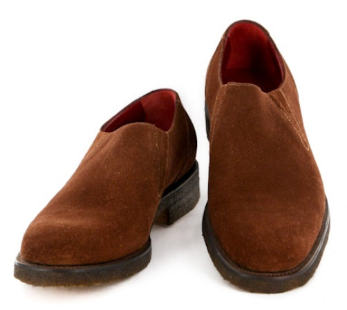 New $1325 Paolo Scafora Brown Shoes - Loafers - 7.5/6.5 - (GENRUSS/GY/103TMORO)