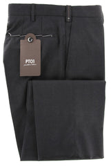 New $475 PT Pantaloni Torino Charcoal Gray Pants - 40/56 - (COSF01C091260)