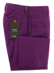 New $400 PT Pantaloni Torino Purple Pants - Extra Slim - 30/46 - (COVTKCRS60770)