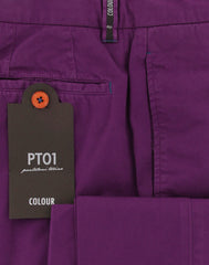 New $400 PT Pantaloni Torino Purple Pants - Extra Slim - (COVTKCRS60770) - Parent