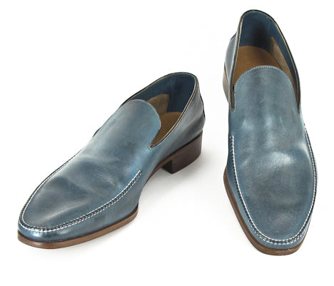 Saint Crispin's Blue Shoes – Size: 6 D US / 5.5 F UK